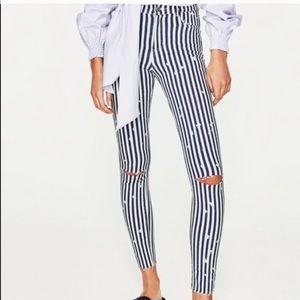 ZARA striped jeans!